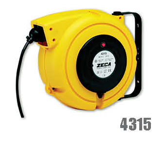 Zeca/Italy Retractable Cable Reel - 3 Conductors (Conductor section = 1.5mm², 230V/110V, 14mtr+1mtr coiled cables)