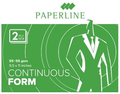 "Paperline Blank Computer Form 9.5 X 11"" 2-ply, White/white [800 Sets]"
