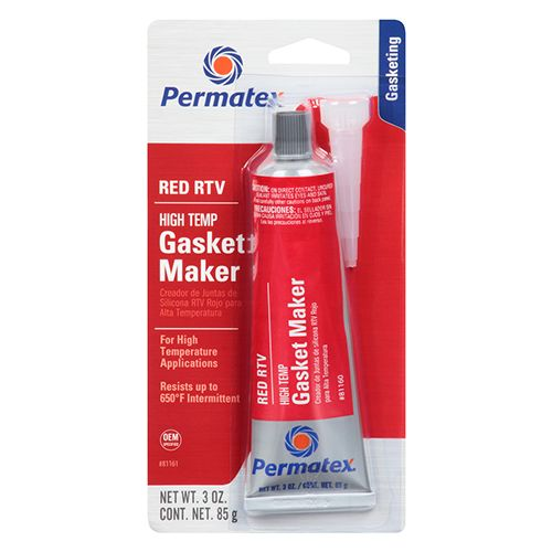 Permatex High-temp Red Rtv 81161 3 OZ TUBE