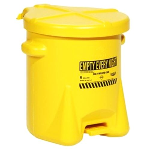 New Pig Poly Self-closing Oily Waste Can 6gal CAN525-RD