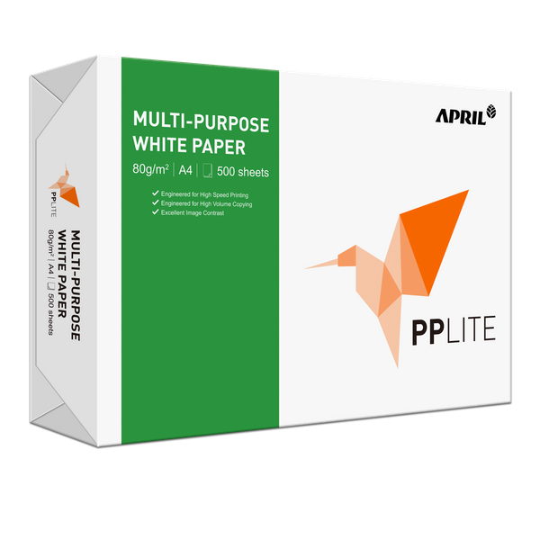 Pp Lite Multi-purpose White Paper A4 80gsm (5 Reams/carton)
