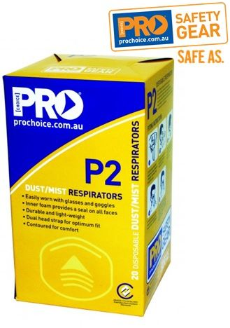 Prochoice Dust/ Face Mask Respirator With Valve PC305