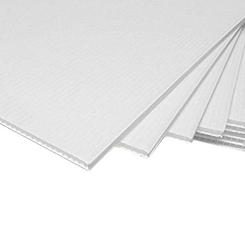 Pte Label Corrugated Plastic Board A4 White