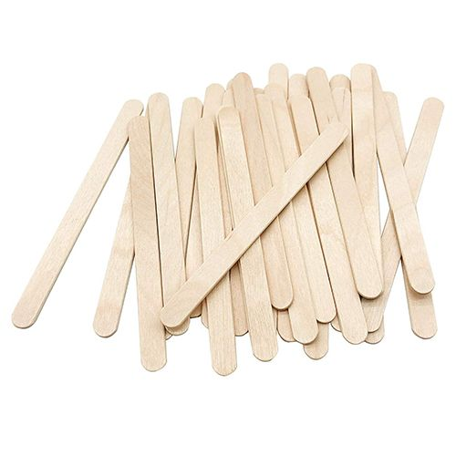 Pte Label Ice Cream Stick Natural 50 Pieces/pack