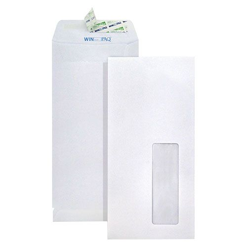 Pte Label Peel & Seal Window Envelope White 11cm X 22cm 500 Pieces/carton