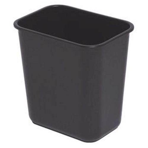 Pte Label Plastic Waste Bin Black