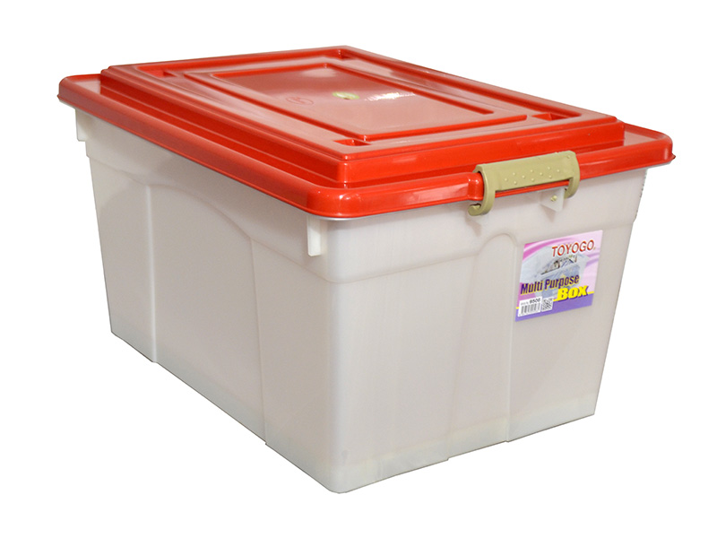 Toyogo 45L Storage Box with Cover and Wheels 9508 (Quantity of 6 Boxes)