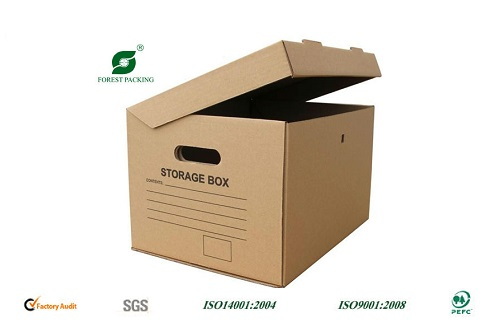 Archive Storage Carton Box - Strong Kraft Corrugated