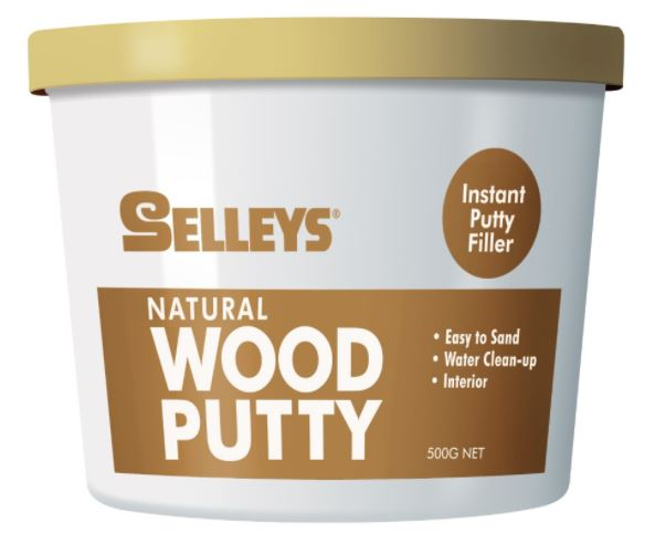 Selleys Wood Putty Natural 500g (5 Bottles)