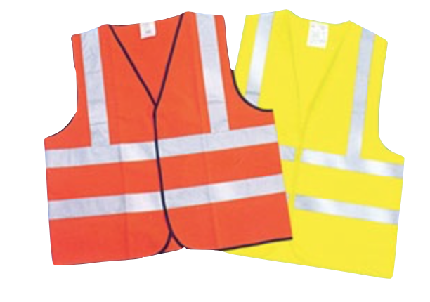 CIG Safety Vest Polyester Knit Velcro W/ Reflective Tape Fluorescent Yellow CIGIT02YL
