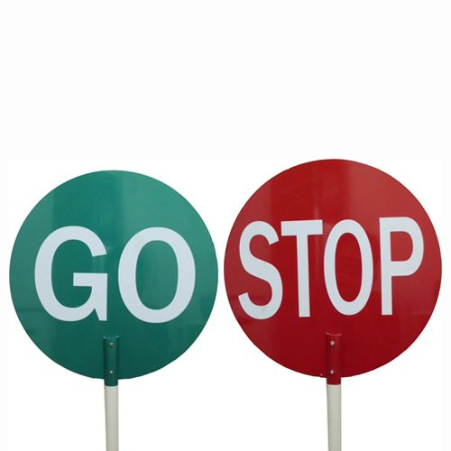 Rc Traffic Stop-go Sign C/w Pole Green/red - RCTSGSC/WP