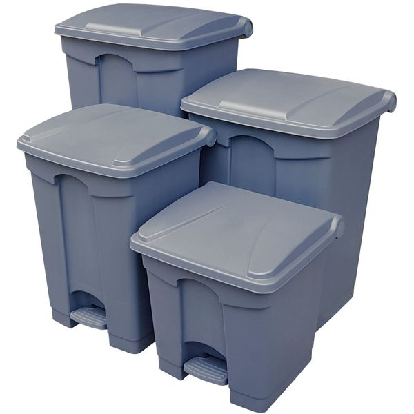 Rectangular Step-on Foot Pedal Bin.