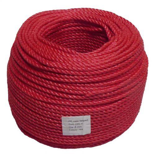RED ROPE POLYETHYLENE 6MM x 200M Per Coil