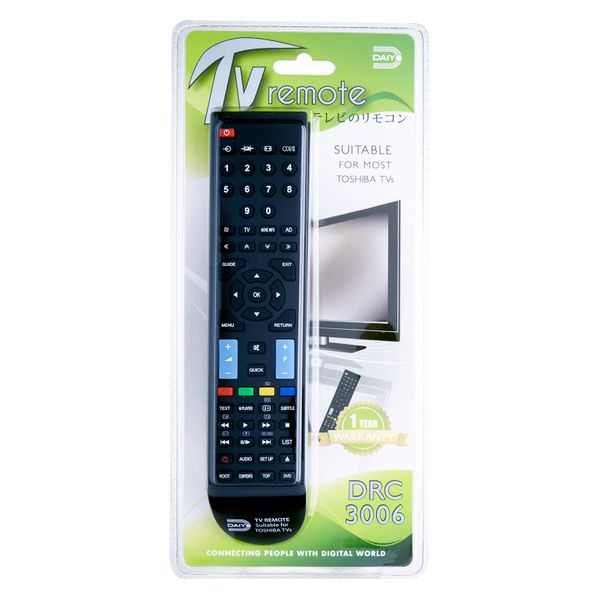 Daiyo Remote Control for Toshiba Tv DRC 3006