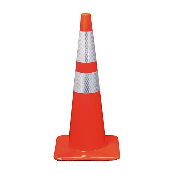 "Rubber Safety Cone 28"" With 2 Reflective Band"