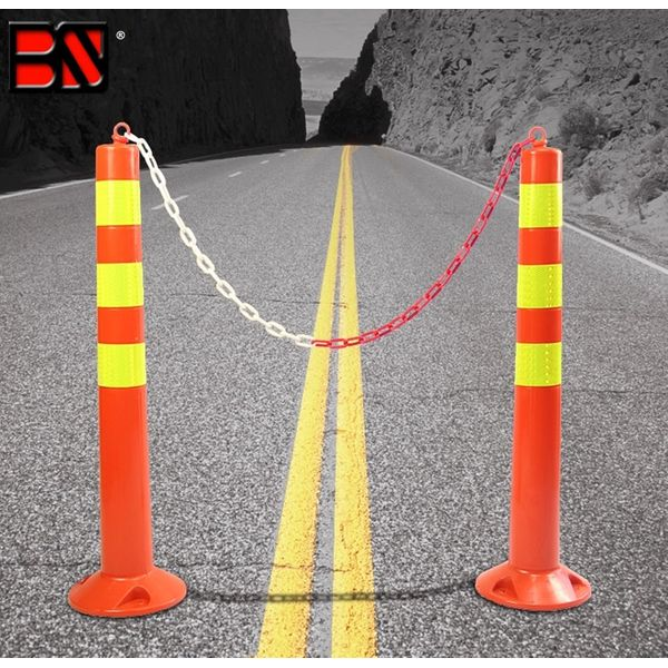 Safety Pvc Reflective Traffic Guide Post With/ Without Magnet