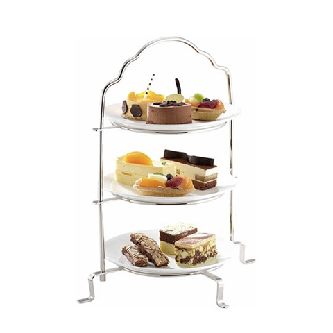 Safico Stainless Steel 3-tier Cake Stand