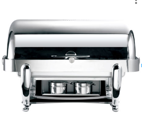 Safico Stainless Steel Chafing Dish, Oblong Roll Top
