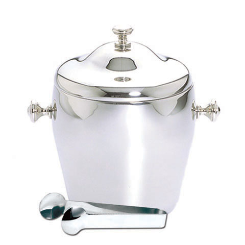 Safico Stainless Steel Double Wall Ice Bucket W/cover & Tong