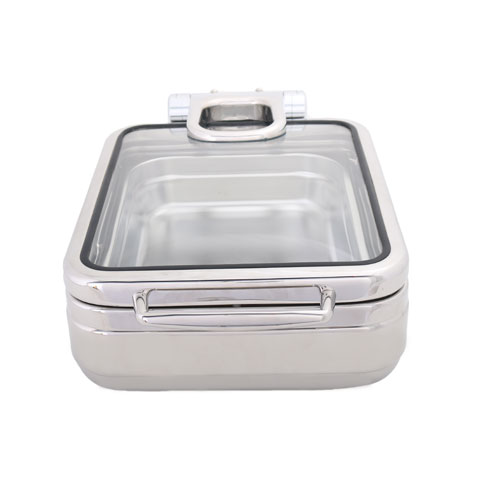 Safico Stainless Steel Gn Hydraulic Induction Chafing Dish W/glass Lid