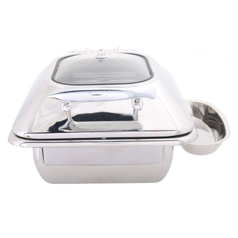 Safico Stainless Steel Hydraulic Induction Chafing Dish W/glass Window
