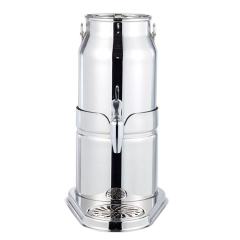 Safico Stainless Steel Milk Dispenser W/mirror Finished Base & Plated