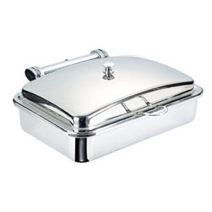 Safico Stainless Steel Oblong Gn1/1 Induction Chafing Dish W/porcelain Insert