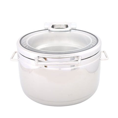 Safico Stainless Steel Round Hydraulic Induction Soup Station W/glass Lid
