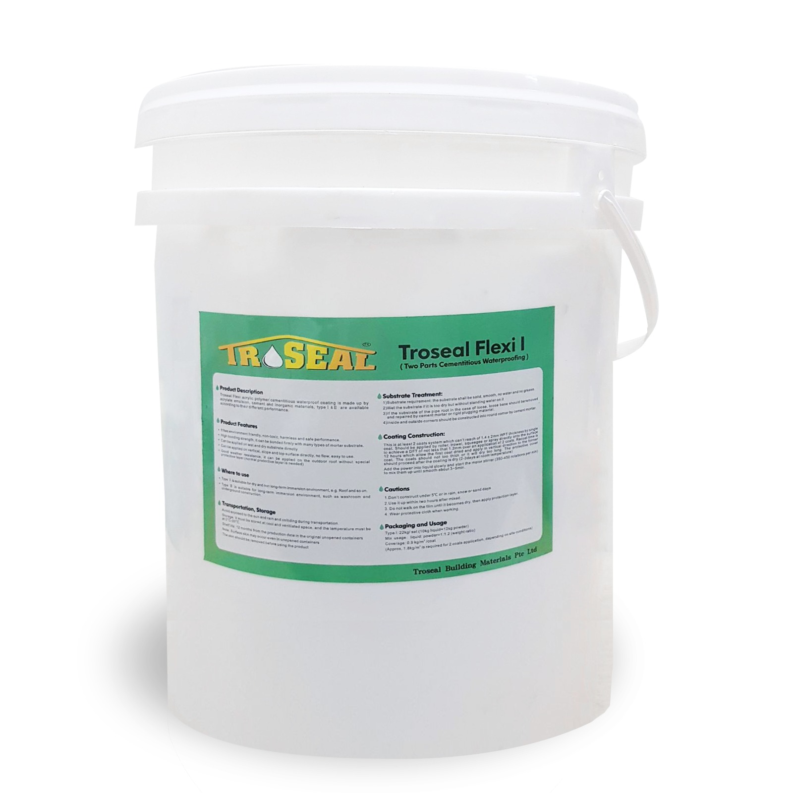Troseal Flexi - 2 Parts Cementitious WaterProofing System