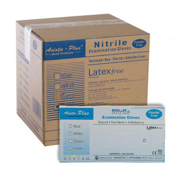 Sensi Blue Nitrile Powder-free Examination Gloves Size L -- Carton