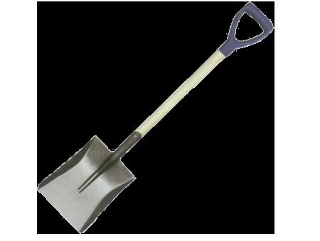 Orex Shovel Square Head 'd' Plastic Grip & 102cm Length Wooden Handle