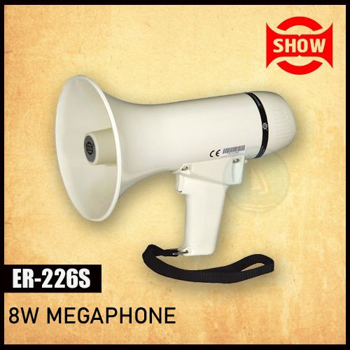 Show ER-226S 8w Megaphone With Siren, Lighter Hand Grip Megaphones