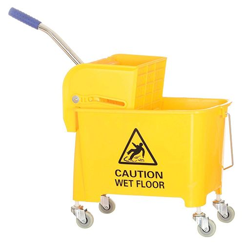 Mop Bucket With Wringer Yellow