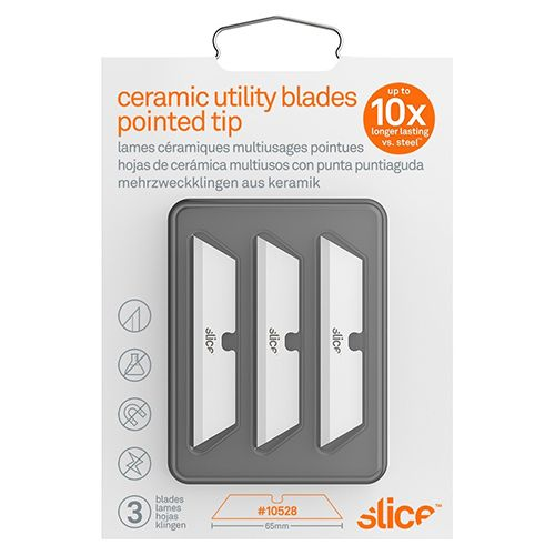 Slice Pointed Tip Ceramic Utility Knife Blade 3 Pieces/pack 10528