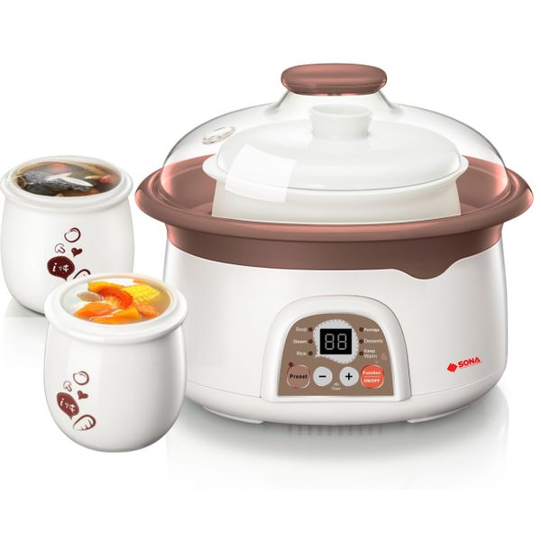 Sona 2.5l Electric Steaming and Stewing Pot SDB 1009