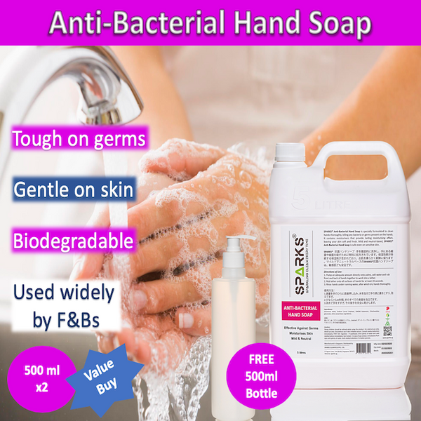 Sparks Anti Bacterial Hand Soap (5 Litres)