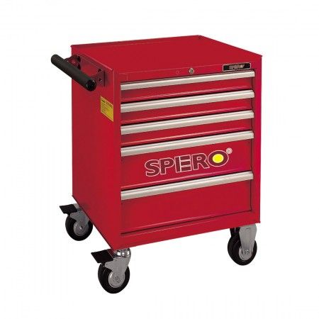Spero 5-drawer Tool Trolley Red