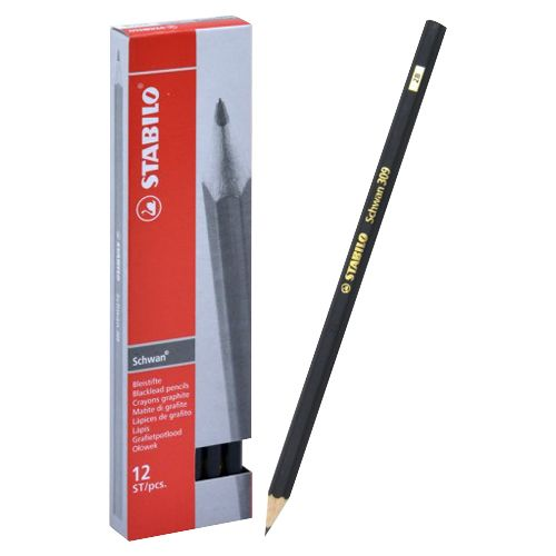 Stabilo Graphite Pencil With Degree Symbol 12 Pieces/box