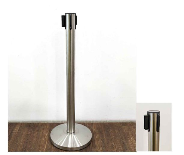 Stainless Steel Retractable Queue Stand With Belt