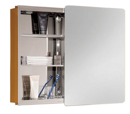 Stainless Steel Sliding Mirror Cabinet (l)