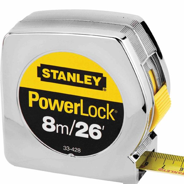 Stanley 8m Powerlock Tape/ 26 Ft Measuring Tape