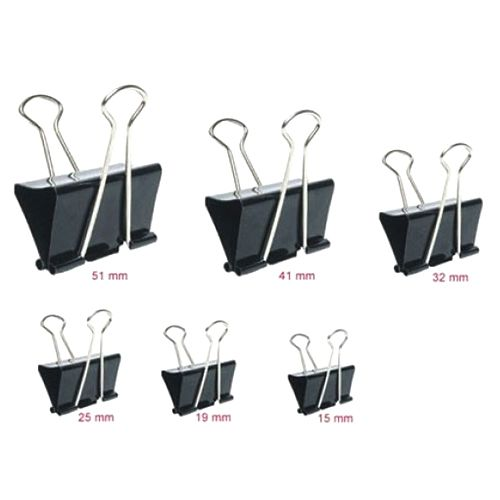Suremark Binder Clip Black 12 Pieces/pack