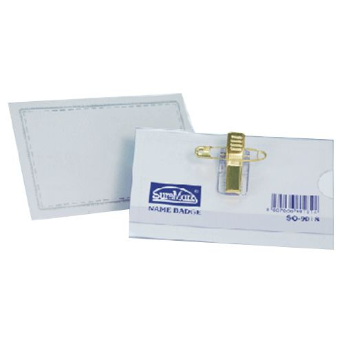 Suremark Name Badge With Pin & Clip SQ-9018 50 Pieces/pack