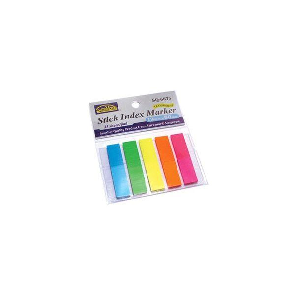 Suremark Stick Index Marker 12 X 50mm Sq6674
