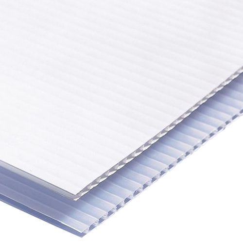 Sy Polypropylene Corrugated Sheet White