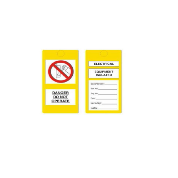 Tag Electrical Yellow 100040N Approx. 0.3mm Thickness