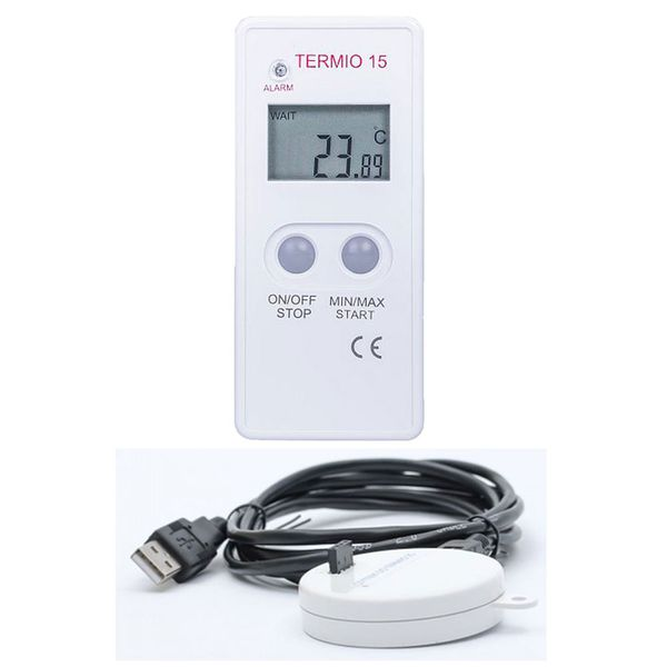 Termoprodukt Termio-15 Temperature Data Logger -30~ 70°c (0.01°c) With Usb Cradle