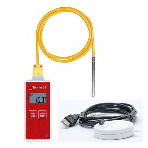 Termoprodukt Termio-31 Temperature K Probe Data Logger -80~80°c With Usb Cradle