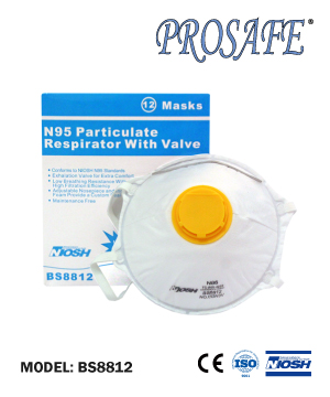 Prosafe Noish N95 Particulate Respirator with Exhalation Valve (12pcs/Box)