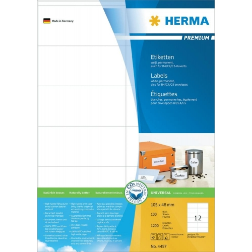 Herma Premium A4 Labels 105x48mm